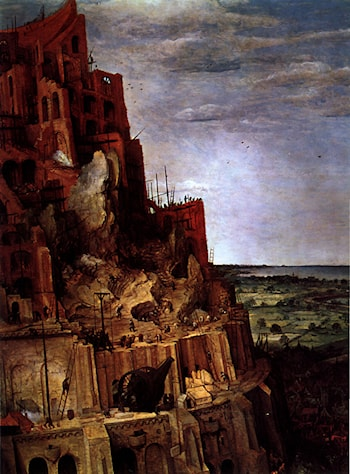 The Tower of Babel [detail] by Pieter the Elder Bruegel